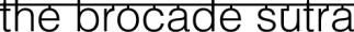 The Brocade Sutra Retina Logo